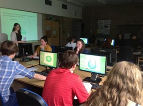 Students get involved with a computer modelling workshop