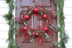 Pomegranate Christmas wreath.