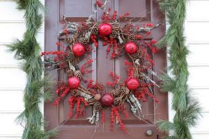 Pomegranate Christmas wreath.