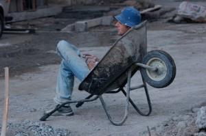 Sitting down. Vladimer Shioshvili/Flickr.