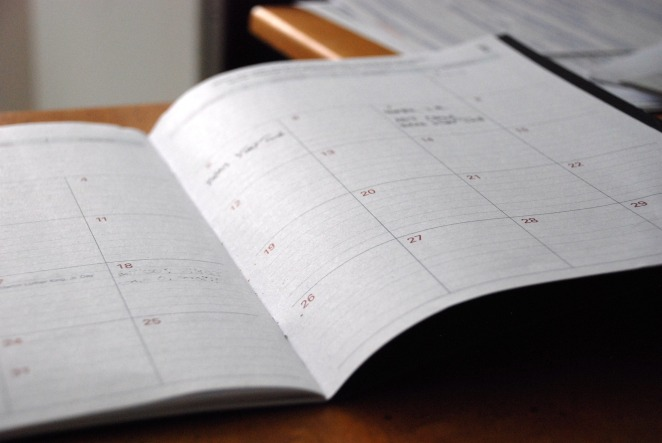 Plan your daily activities: it can be hard to keep track of what you're doing otherwise.